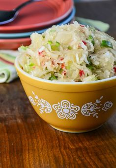 Sauerkraut Salad is a tangy salad perfect for summer, it tastes more like Seven-Day Slaw than sauerkraut.