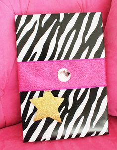 kandee johnson gift wrapping  Would be cute to use headband for pink ribbon.