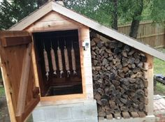 Check out this amazing Cedar smokehouse. From : Smoking Meat Forum user Nick from Texas Photo 1 / 6