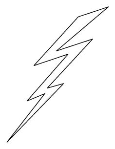 Gallery For gt Lightning Bolt Outline