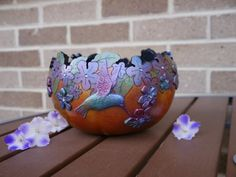 Hummingbird Gourd Bowl