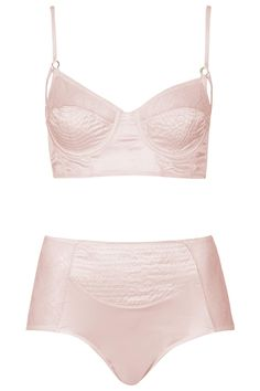 a9cdaae83c36f6 Satin Bralet and High-Waisted Knickers - Topshop Lingerie Sleepwear