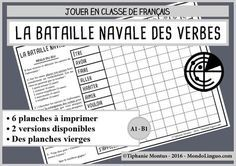 School Resources, Teaching Resources, French Tenses, French Adjectives, Grammar Games, Cycle 3, French Classroom, School Hacks, Learn French