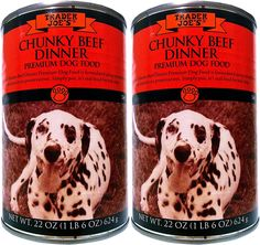 Trader Joes Premium Dog Food Chunky Beef Dinner 2 Cans *** See this great product. (This is an affiliate link and I receive a commission for the sales)