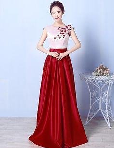 Formal Evening Dress - Beautiful Back Sparkle & Shine Open Back Elegant A-line Scoop Floor-length Jersey withBeading Crystal Detailing 5518465 2017 – $71.99