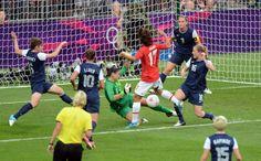 United States vs Japan, Gold Medal Match - Soccer  - Got a little nervous after this Japan goal !