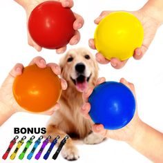 WATFOON Dog Bouncy Ball XXL Durable Solid NonToxic Rubber Toy for Heavy Duty Dogs Φ3.215 oz Orange >>> Be sure to check out this awesome product. (This is an affiliate link)