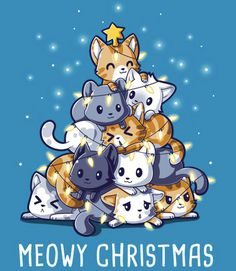 i don't do Christmas but dammit this keeps showing up in my feed so I'll just pin it ARE YOU HAPPY NOW PINTEREST?! #KITTIES