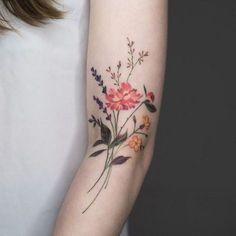 20+ Wonderful Wildflower Tattoo Ideas #TattooIdeasFlower