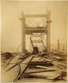 These images show Tower Bridge under construction in the They were saved from a skip many years ago by a neighbour of mine. The skip. Victorian London, Vintage London, Old London, Victorian Era, London History, British History, Old Pictures, Old Photos, Vintage Photos
