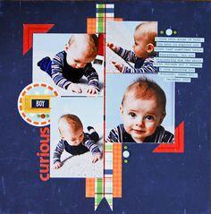 Echo Park - little boy collection scrapbook layout Echo Park *Little Boy Collection*