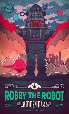 ROBBY ROBOT by Evgeniy Khizovets, via Behance