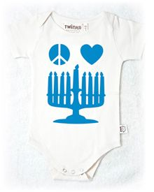 Organic Glow-in-the-Dark Hanukkah Onesie