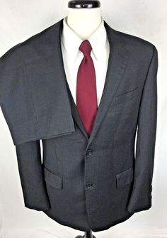 MICHAEL KORS Suit Mens 42 Gray WOOL Single Vent Blazer Jacket Pants 42L #MichaelKors #TwoButton