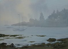 Misty Cove with Boats