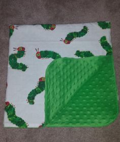 Baby Reece's new Hungry Caterpillar minky dot receiving blanket that I made :) Hungry Caterpillar Nursery, Very Hungry Caterpillar, Receiving Blankets, Future Baby, Kids Rooms, Baby Gifts, Crafting, Dots, Accessories