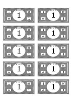 It is a photo of Playful Printable Play Money Black and White Pdf
