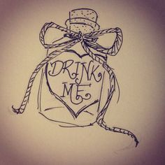 Drawn alice in wonderland sketch - pin to your gallery. Explore what was found for the drawn alice in wonderland sketch Doodle Drawings, Art Drawings Sketches, Disney Drawings, Easy Drawings, Tattoo Drawings, Hipster Drawings, Drawing Disney, Sketch Drawing, Kawaii Drawings