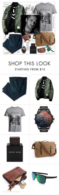 """""""Trust in yourself"""" by natalyapril1976 ❤ liked on Polyvore featuring Jack & Jones, Lalique, J.Crew, Oakley, Levi's, Anja, men's fashion, menswear, look and men"""
