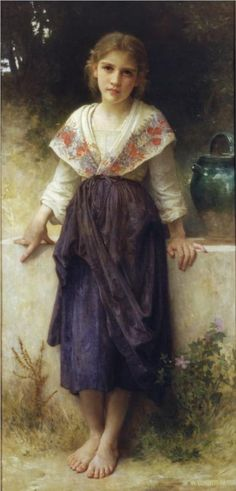 A moment of rest, 1900