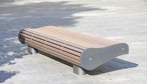 Public bench / contemporary / aluminum / PET