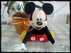 Muñeco Mickey Mouse (fieltro) Por Happy monsters fieltro