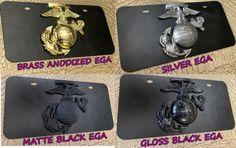 USMC MARINE License Plate  3D Metal EGA  Powder Coated | Etsy