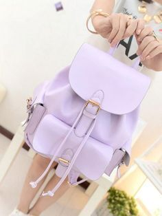 """Material:PU Size: Width:23cm/9.06"""". Height:32cm/12.60"""". Thick:12cm/4.72"""" . Style:Sweet. Construction:Handle top.Adjustable strap.Fold over flap with buckle snap closure.Drawstring closure. Three exter"""