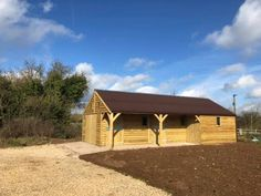L Shape Stable Block with 3 Stables - Finer Stables Roof Joist, Shiplap Cladding, Horse Barn Plans, Hay Barn, External Lighting, Front Windows, Roofing Systems, Brickwork, Bespoke Design
