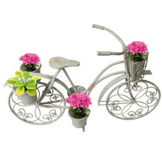 Casa Cortes Antique White Bicycle Garden Patio Planter | Overstock.com Shopping - Great Deals on Casa Cortes Planters, Hangers & Stands