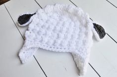 Little Lamb Hat Baby Beanie Photo Prop Made to by ChucksForChancho, $17.00