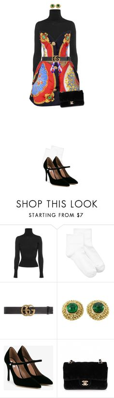"""""""Listen to many, speak to a few."""" by quiche ❤ liked on Polyvore featuring Dsquared2, Hue, Gucci, Yves Saint Laurent, Tabitha Simmons and Chanel"""