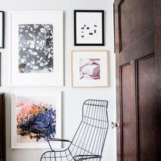 Arends, who is currently renovating her house in Minneapolis with help from McDonald Remodeling, took a moment to capture an unscathed corner boasting a contemporary gallery wall.