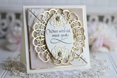 Card Making Ideas by Becca Feeken from the Amazing Paper Grace for Spellbinders Romancing the Swirl Collection - using Ringlet Round and Quietfire Design - see full supply list at www.amazingpapergrace.com/?p=33906 Check out my post called: I Pretty Cards, Cute Cards, Becca Feeken Cards, Spellbinders Cards, Anna Griffin Cards, Embossed Cards, Beautiful Handmade Cards, Mothers Day Cards, Hobbies And Crafts