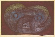Paul Klee (1879-1940), Geschöpf aus der Moor Gegend D (Creature of the Moorland D), 1939 (1014). Gouache and coloured crayon on paper. 21cm H x 32.6cm W.
