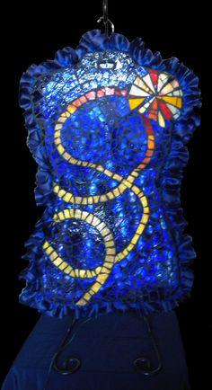 Joy Illuminated art glass mosaic Mosaic Glass, Glass Art, Illumination Art, Hanukkah, Joy, Wreaths, Crafts, Home Decor, Manualidades