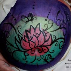 My belly painting by spellbound body art and face painting.