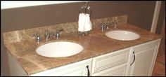 EG Marble - Vanities This actually has a nice look to it! (the cultured marble top color and pattern).