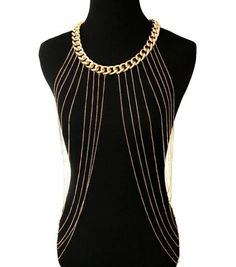 Gold Sexy Body ketting Women Necklaces & Pendants Tassel Alloy Punk Long Necklace 2018 New Designer Female Fashion Jewelry BY45