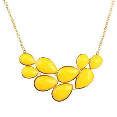 Amazon.com: Yellow Bubble Jewelry Drop Shape Necklace Yellow Necklace Cluster Necklace (Fn0564-Yellow) (Yellow): Jewelry