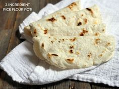 This rice flour roti is a magical 2-ingredient flatbread that's really simple to make!