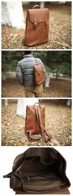 Handmade Vintage Leather Backpack, Rucksack, School Backpack, Travel Backpack 5105