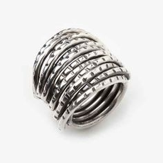 Thick Oxidized Sterling Silver Wrap Ring by PAZ COLLECTIVE