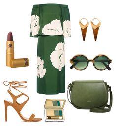 """Olive and Camel"" by mara-bernardone on Polyvore featuring moda, TIBI, Cutler and Gross, Theodora Warre e Estée Lauder"