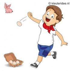 Spel 4: Plastic eieren werpen, speldag thema boerderij voor kleuters, kleuteridee.nl , farm games for preschool field day..