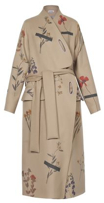 Materiel by Lado Bokuchava - Beige Printed Coat - Coats | MORE is LOVE
