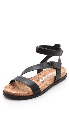 DKNY Sterling Ankle Strap Flat Sandals