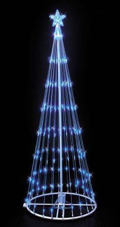 4' Blue LED Lightshow Tree . $119.99. Light Display: Multi-Function, 9 Light Show Effects. Light Count: 152. Usage: Indoor / Outdoor. Energy efficient LED lights use less energy and last longer. 4' LED Lightshow tree. Beautiful outdoor Christmas decoration with 9 stunning light effects, and a lighted star at top.