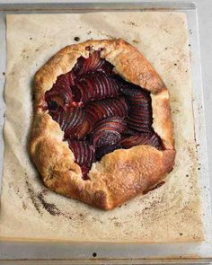 Plum Galette - This appealingly rustic free-form tart is easy to make, even for a novice baker. A layer of toasted almond filling intensifies the flavor of the plums.