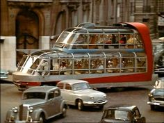 Citroen Cityrama Currus bus in Paris, 1954 - Exotic! Automobile, Double Decker Bus, Weird Cars, Camping Car, Busses, Old Cars, Concept Cars, Cars And Motorcycles, Vintage Cars
